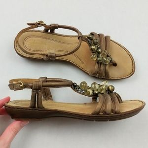 Like New Clarks Bendables Beaded Strappy Sandals